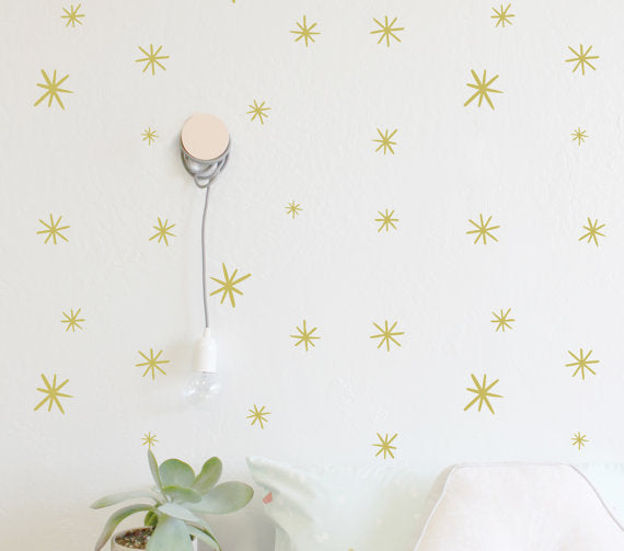 The Lovely Wall Co. Wall Decals - Marker Starbursts