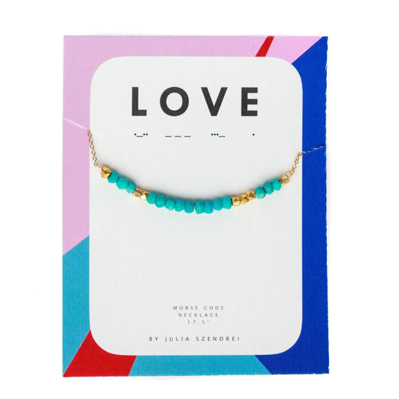 Julia Szendrei Morse Code Necklace - Love