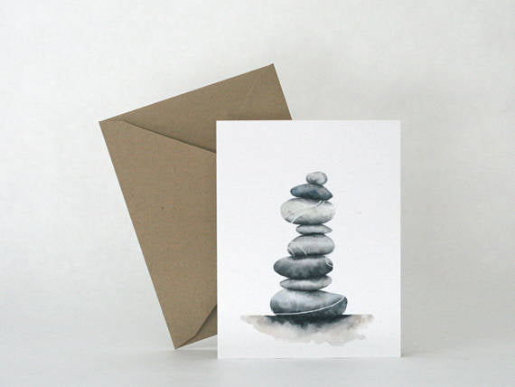 Saltwater and Feathers - Balance greeting card