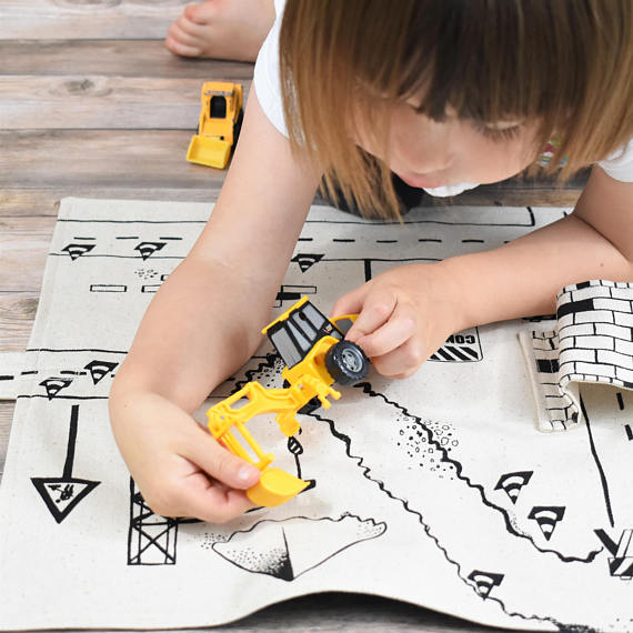 So Handmade Construction Vehicle Playmat