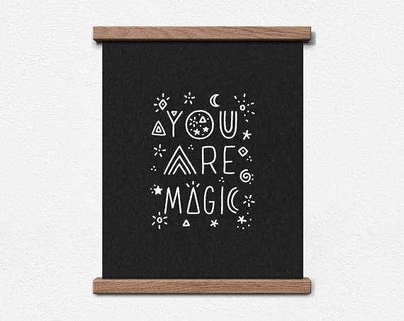 Worthwhile Paper Art Screen Print - You Are Magic