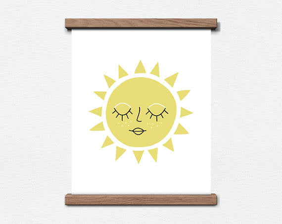 Worthwhile Paper Kid's Art Print - Sun