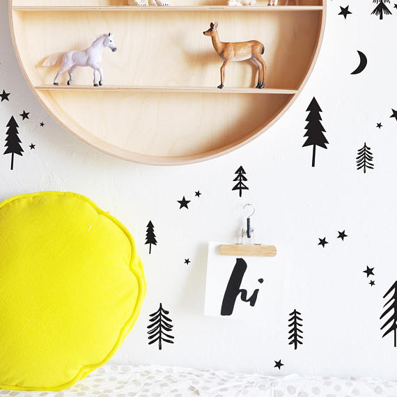 The Lovely Wall Co. Wall Decals - Starry Night Forests
