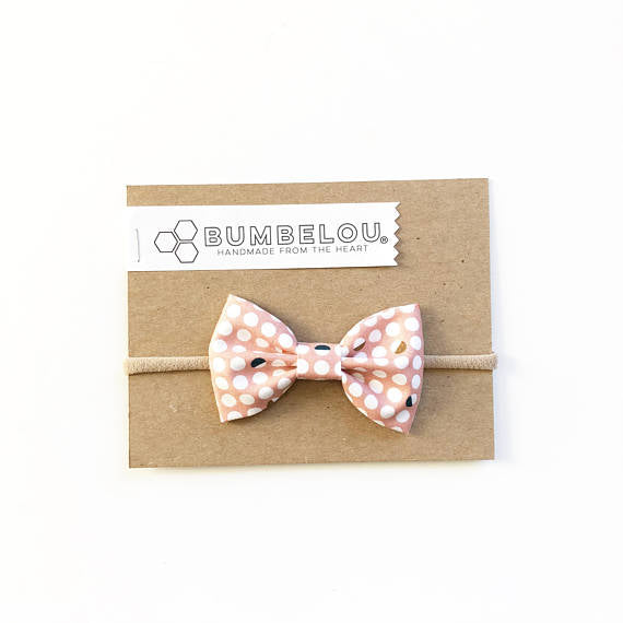 Bumbelou - Classic Fabric Bow - Moon Phase