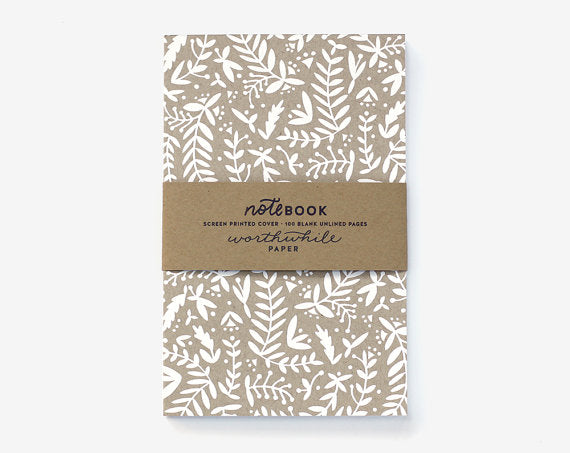 Worthwhile Paper Screen Printed Notebook