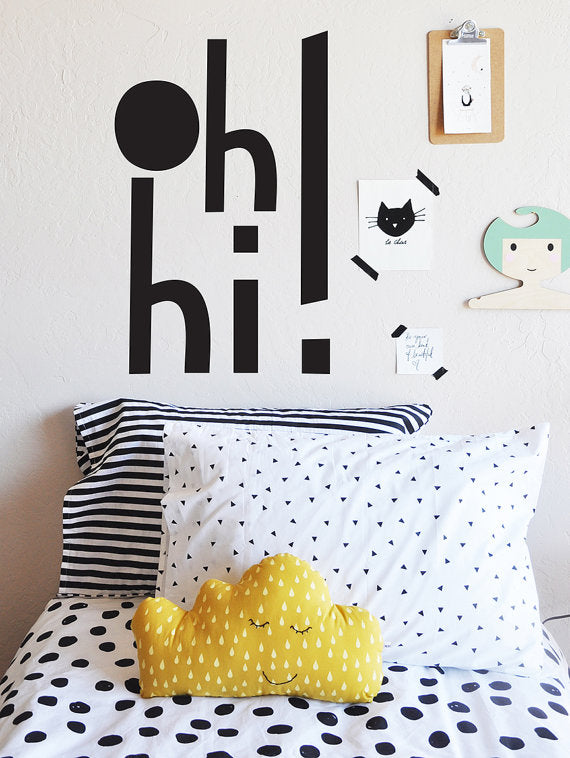 The Lovely Wall Co. Wall Decal - Oh Hi!