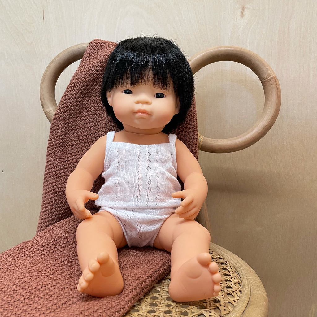 Miniland Baby Doll Asian Boy