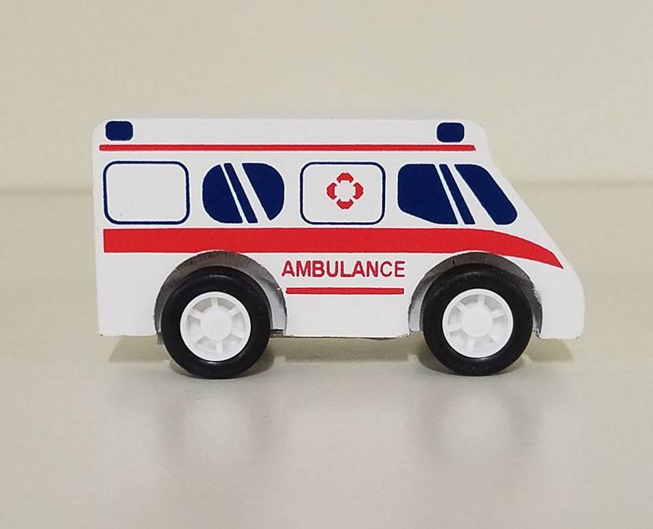 Manhattan Toy Co. Pull-back Rescuers - Ambulance