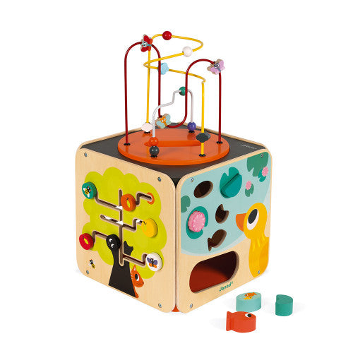 Janod Multi Activity Looping Cube Toy