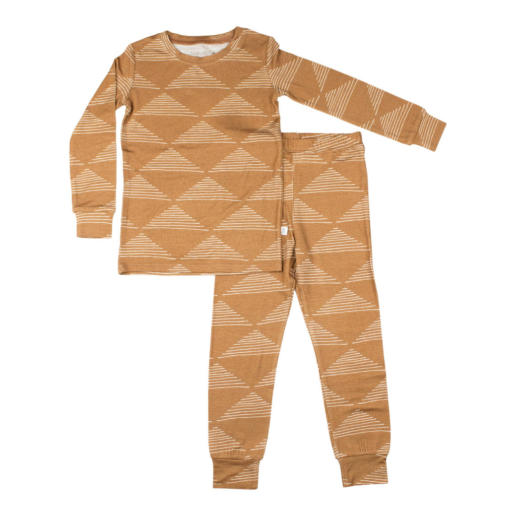 Triangles Two Piece Bamboo Pajama Set