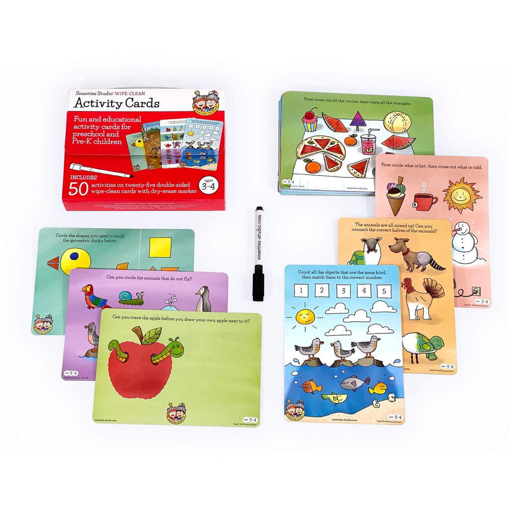 Smarties Studio Activity Cards - Ages 3-4