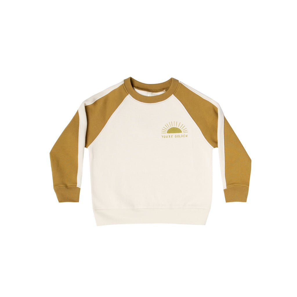 Rylee + Cru You're Golden Raglan Sweatshirt