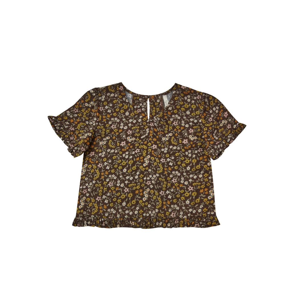 Rylee + Cru Dark Floral Rory Top