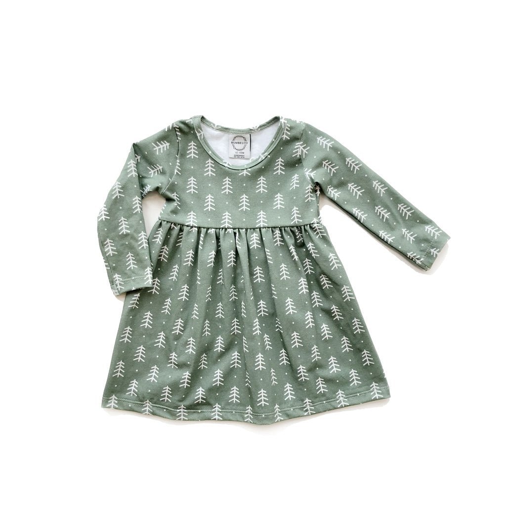 Bumbelou Lexi Dress - Sage Trees