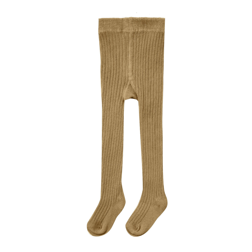 Rylee + Cru Rib Knit Tights - Goldenrod