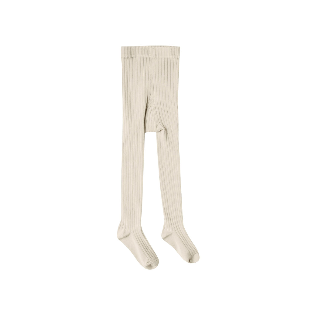 Rylee + Cru Knit Solid Ribbed Tights - Wheat