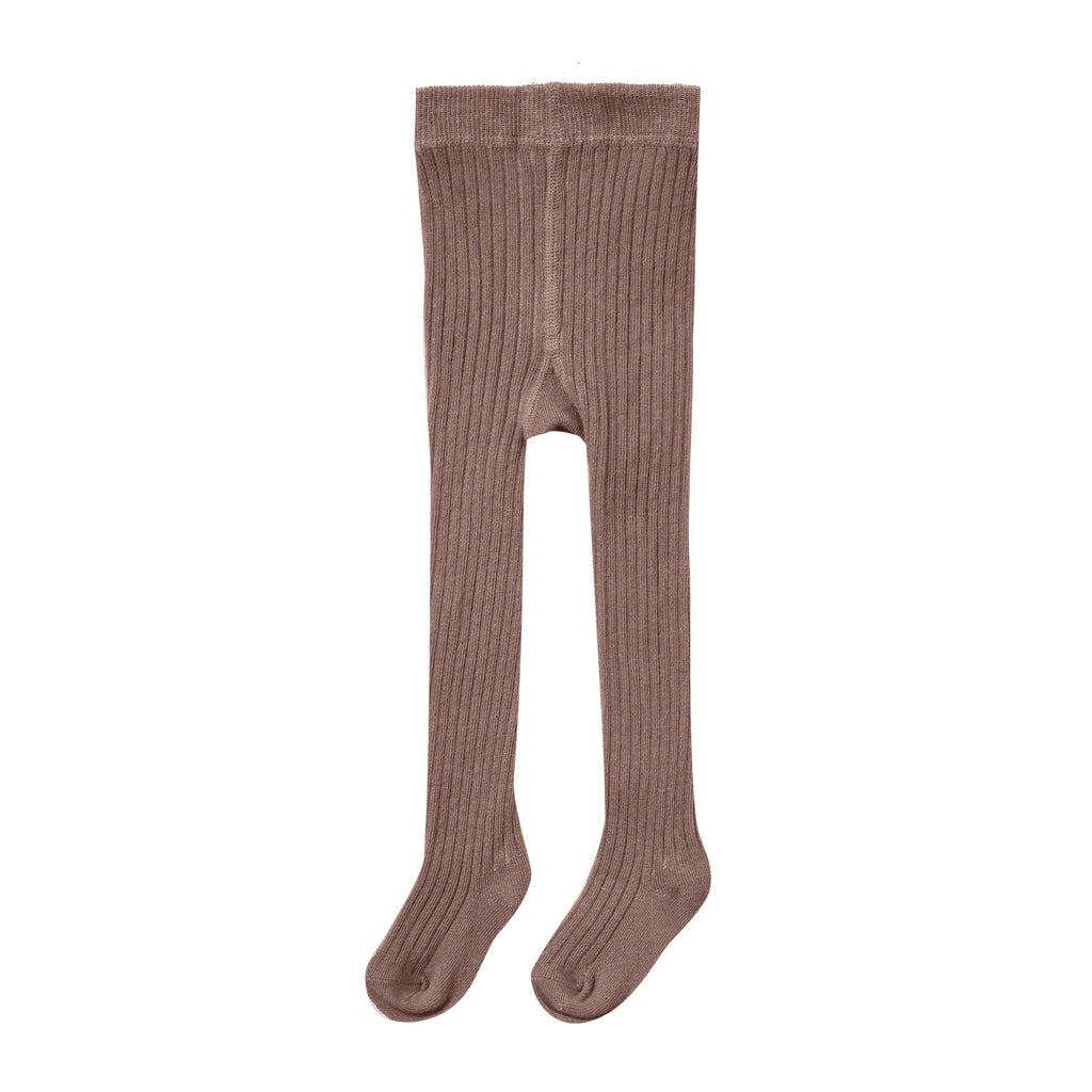 Rylee + Cru Rib Knit Tights - Wine