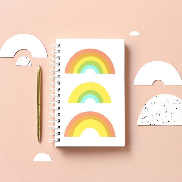 Worthwhile Paper Trifecta Notebook - Rainbow