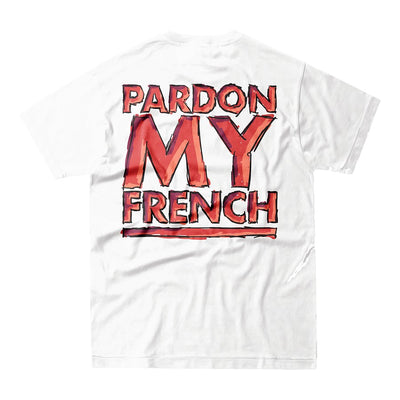 Pardon My french White Tshirt Crew Edition