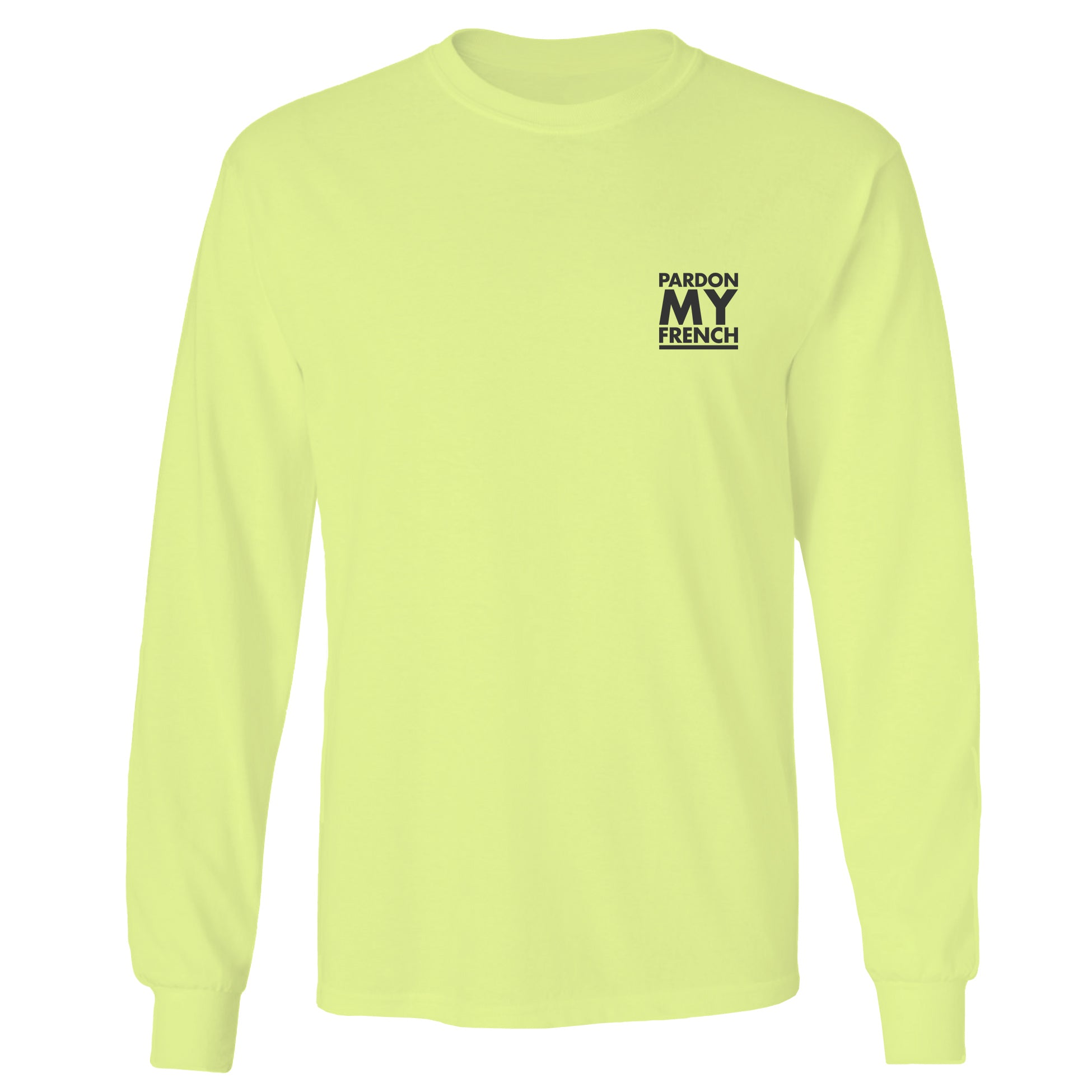 DYED NEON YELLOW LONG SLEEVES T-SHIRT