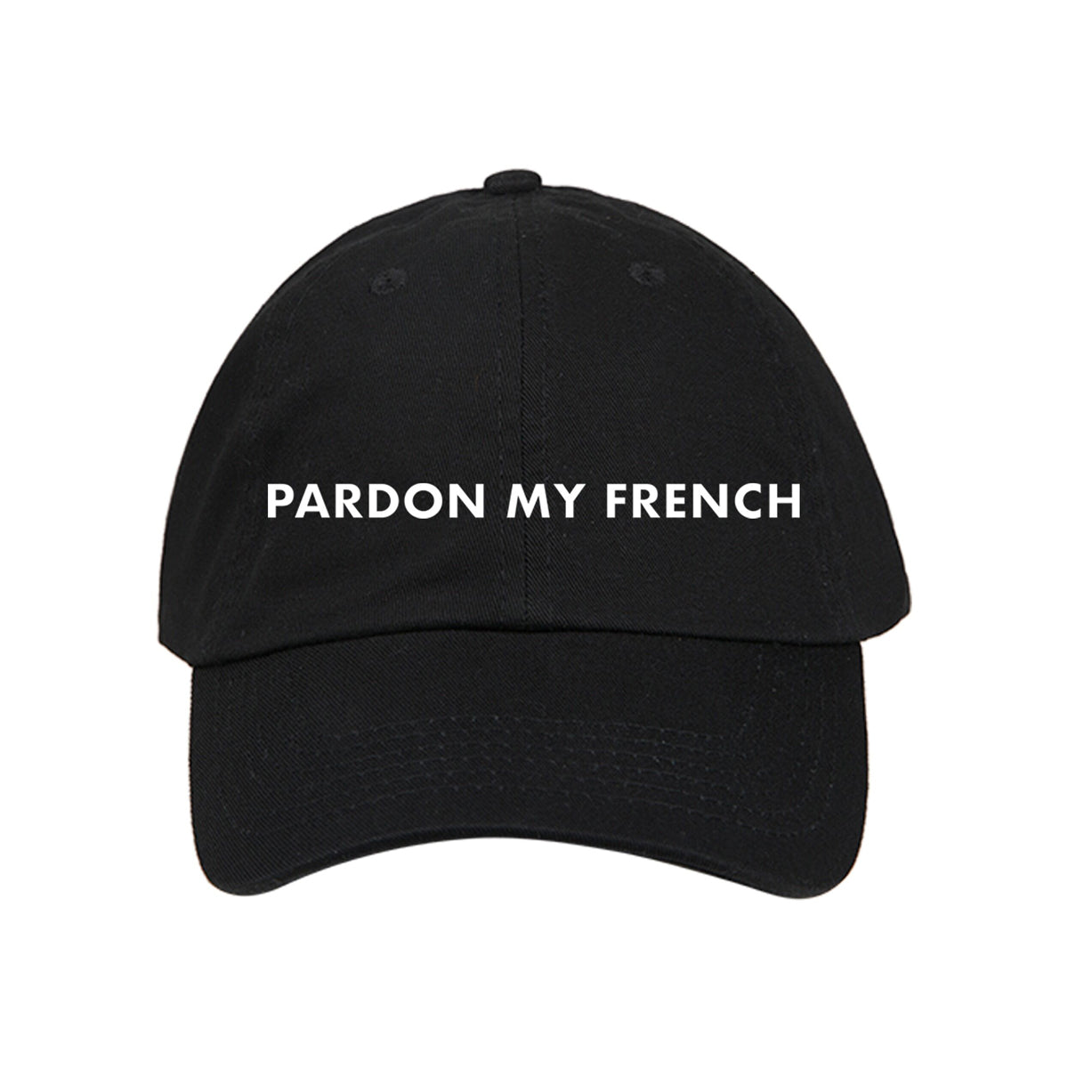 PARDON MY FRENCH BLACK CAP