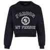 WOMEN CREWNECK UNIVERSITY BLACK + WHITE PRINT
