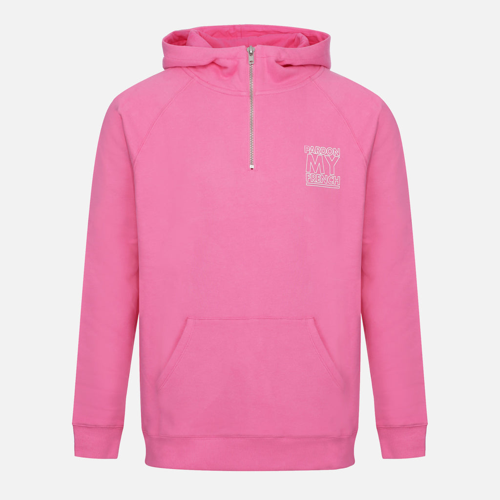 PMF CLASSIC LOGO PINK ZIPPED HOODIE
