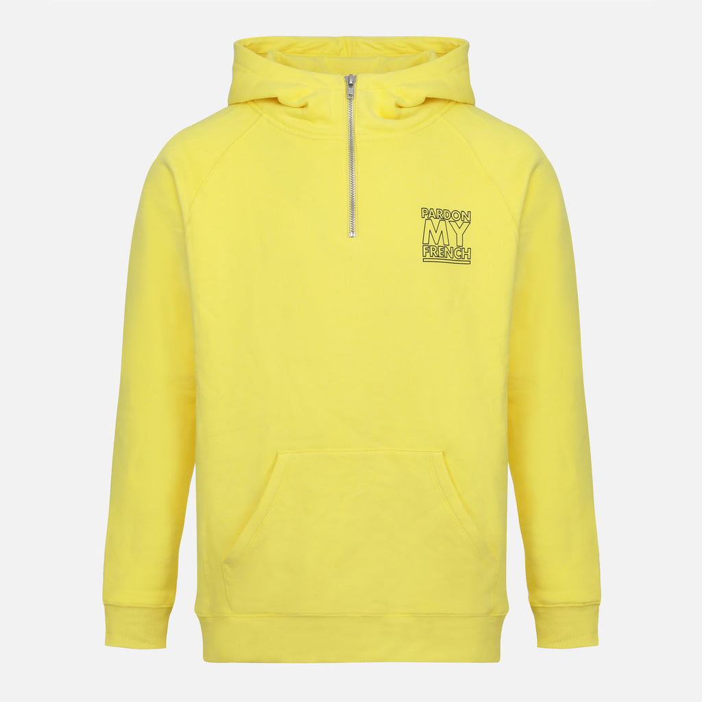 PMF CLASSIC LOGO YELLOW ZIPPED HOODIE