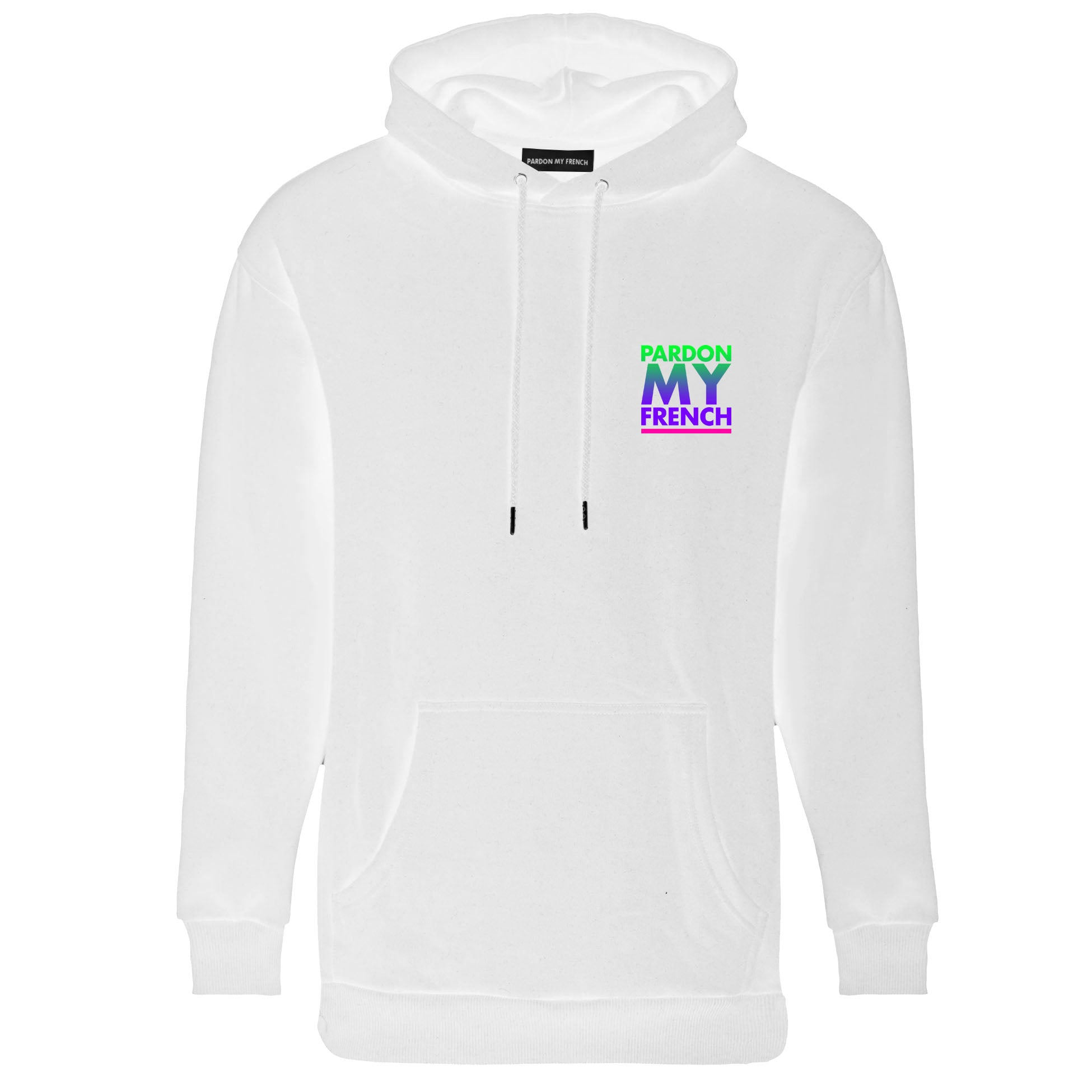 PARDON MY FRENCH SUNSET EDITION WHITE HOODIE
