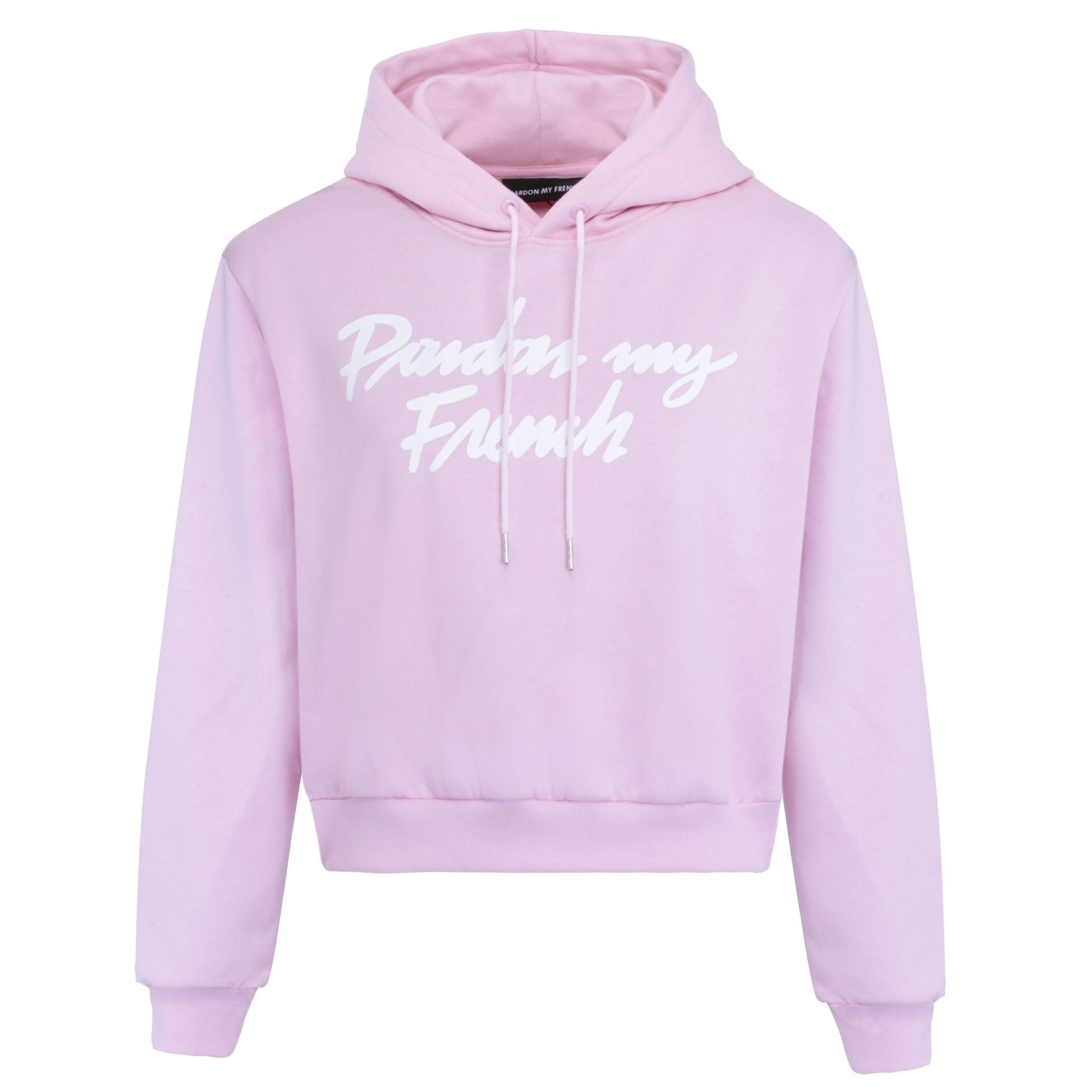 PARDON MY FRENCH HOODIE PINK