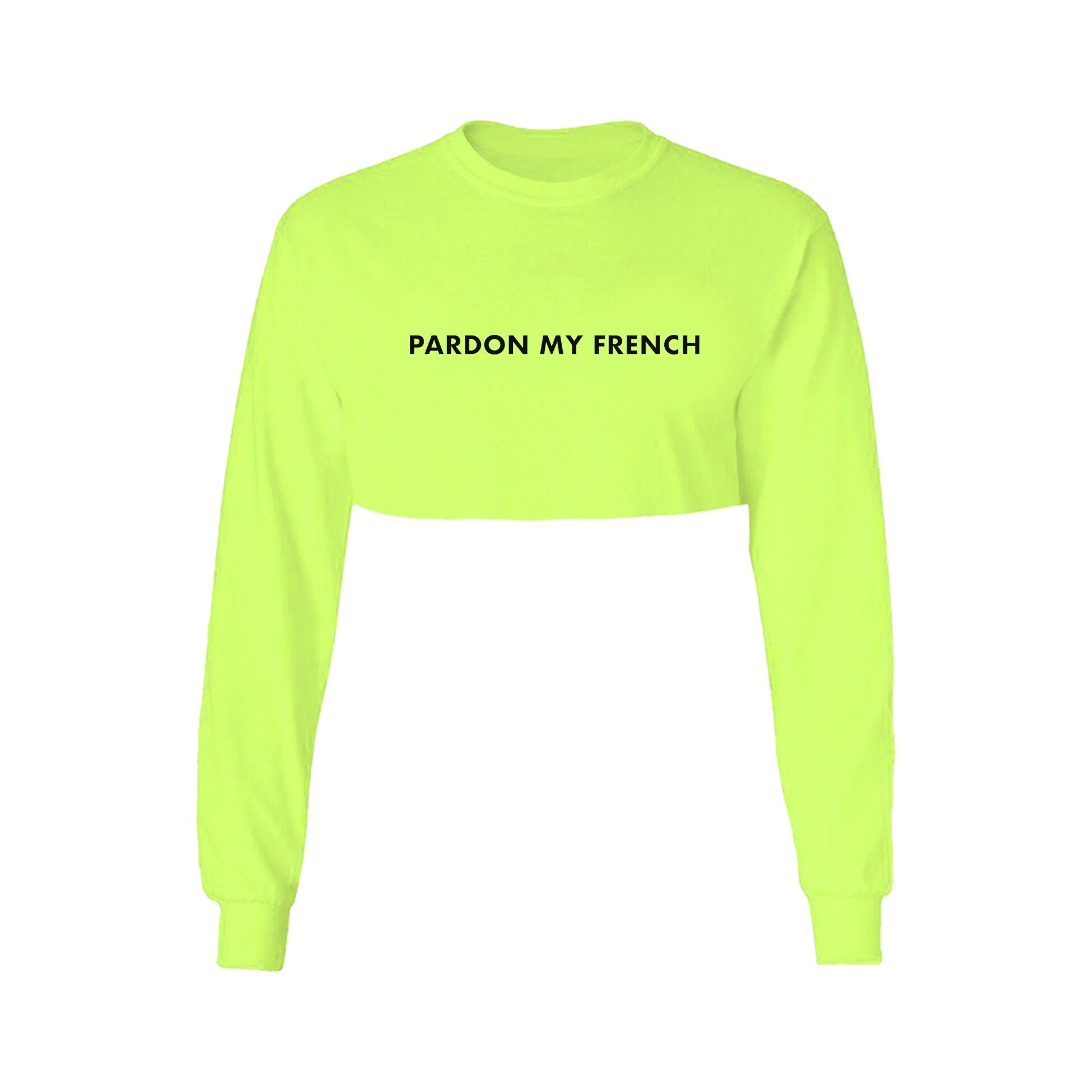 CROPTOP LONG SLEEVES NEON YELLOW