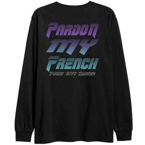 LONG SLEEVES TSHIRT RETRO FUTURE BLACK