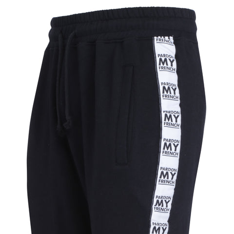 PARDON MY FRENCH HOODED PANTS BLACK