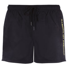 SWIM TRUNK SIGNATURE PMF  BLACK + LEMON PRINT