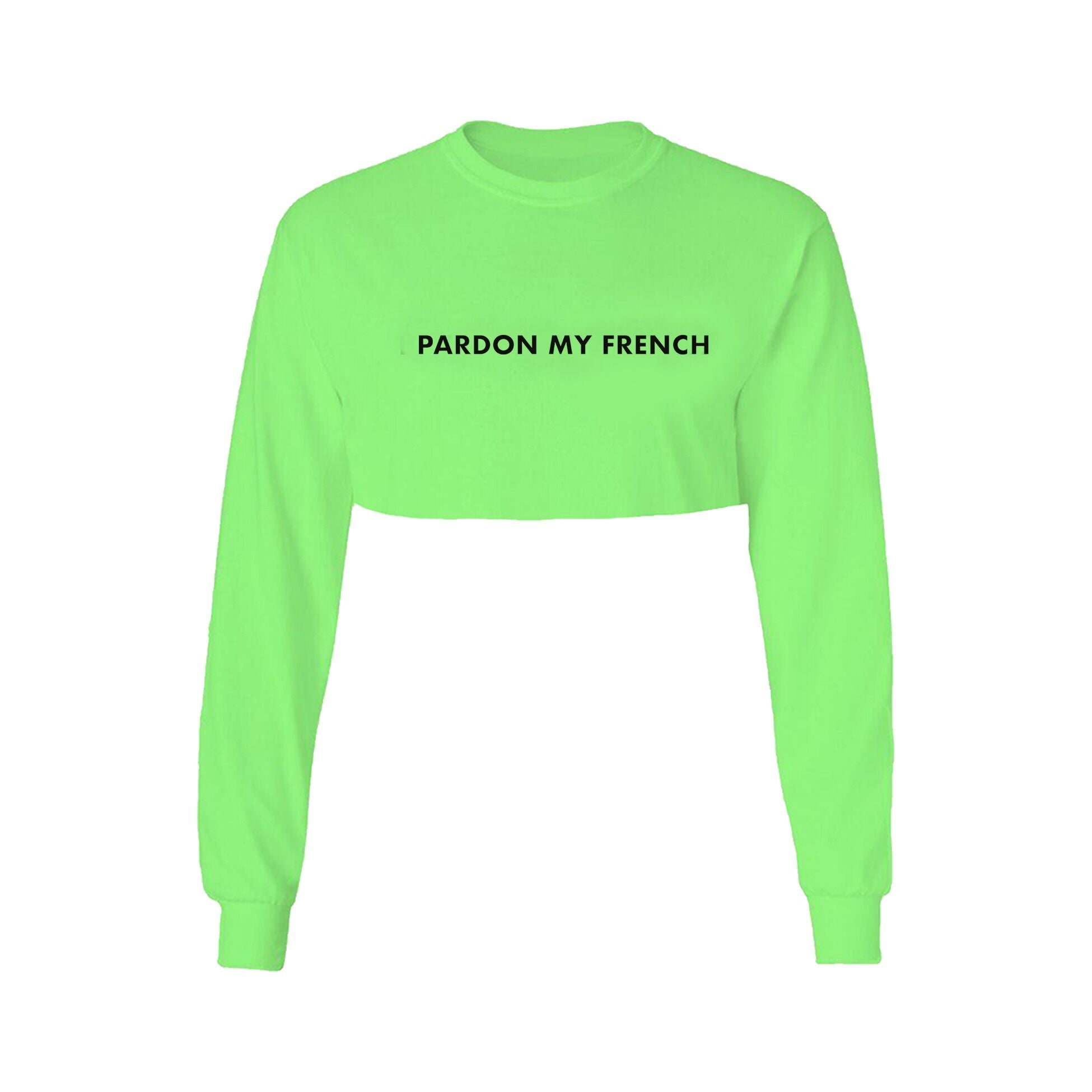 CROPTOP LONG SLEEVES NEON GREEN