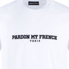 TSHIRT PARIS EDITION WHITE WITH BLACK EMBROIDERY