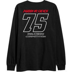 T-SHIRT LONG SLEEVE PMF RACING BLACK