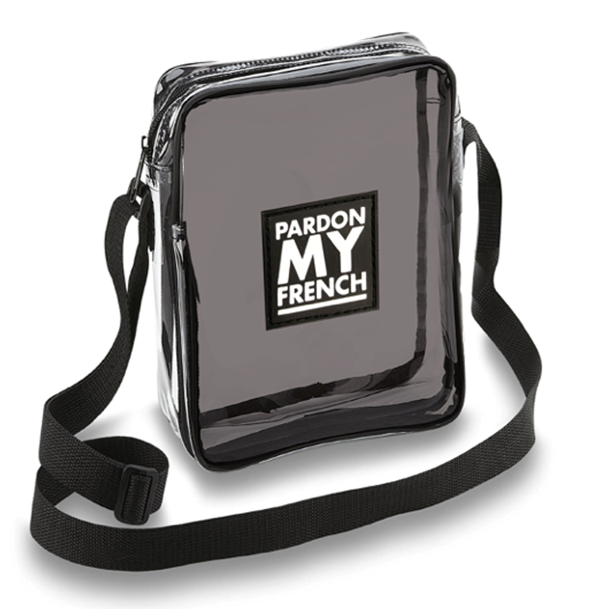 PARDON MY FRENCH CLEAR CROSSBODY BAG