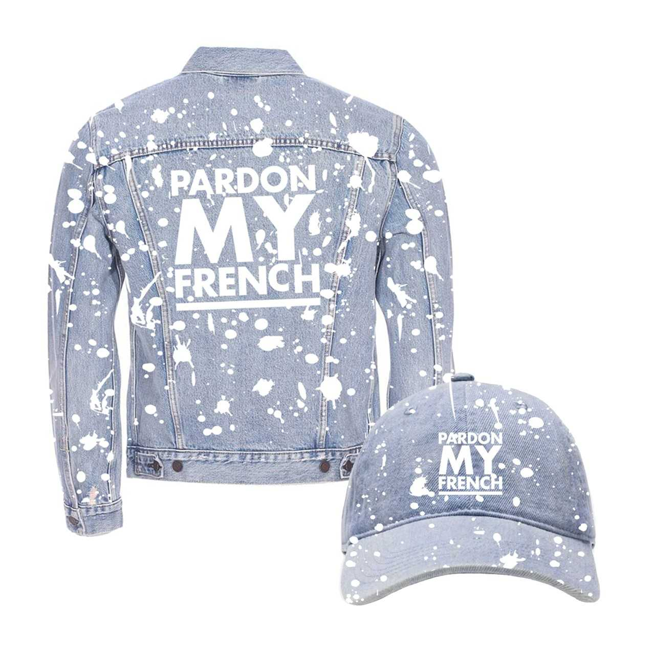 PARDON MY FRENCH DENIM JACKET/CAP BUNDLE