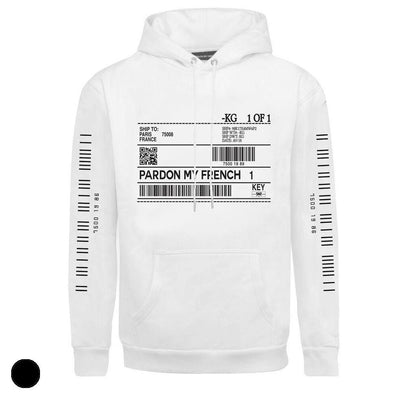 PARDON MY FRENCH BAR CODE HOODIE