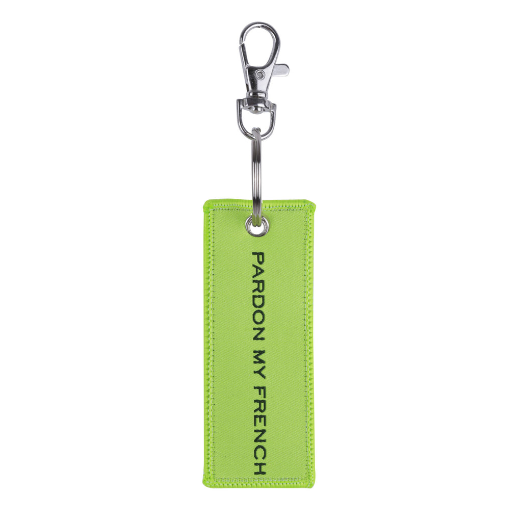 PARDON MY FRENCH NEON KEYRING