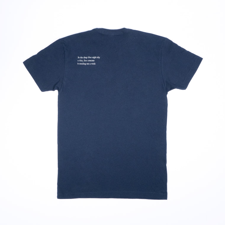 Poem T-Shirt - Navy Blue