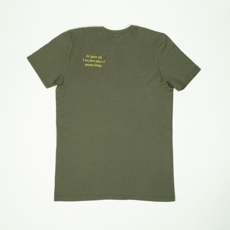 Poem T-Shirt - Army Green