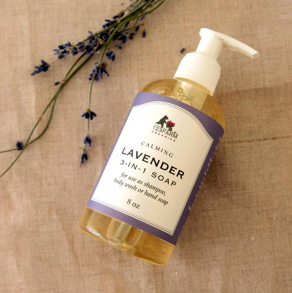 3-in-1 Lavender Soap 8 oz.