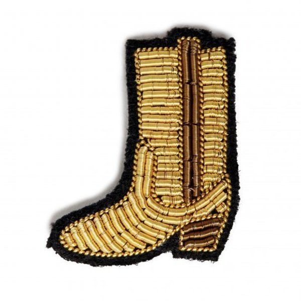 Gold Boot Pin Macon & Lesquoy