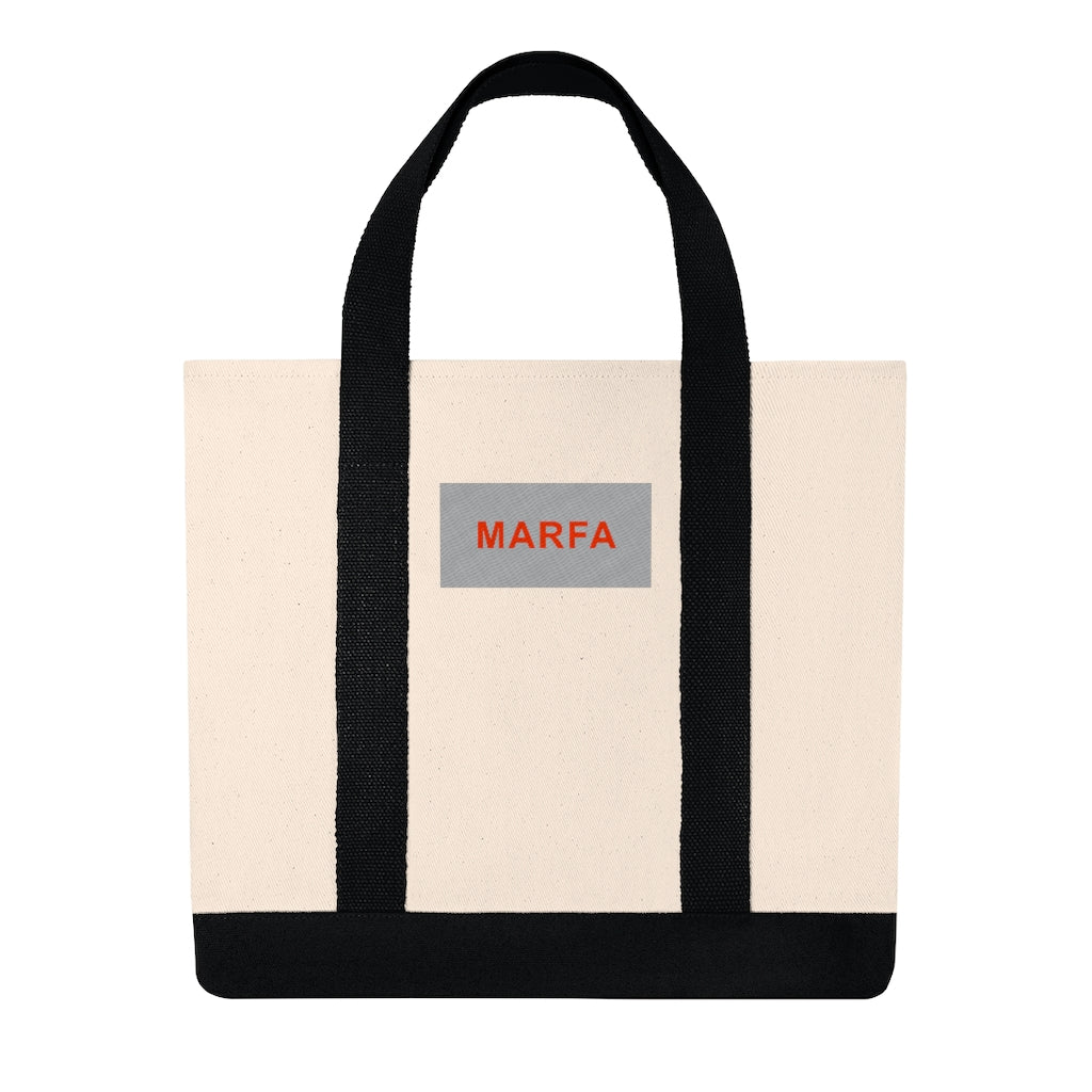 Embroidered Marfa Box Shopping Tote