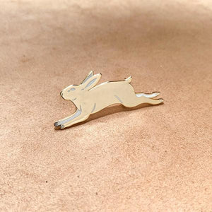 Golden Rabbit Metallic Enamel Pin