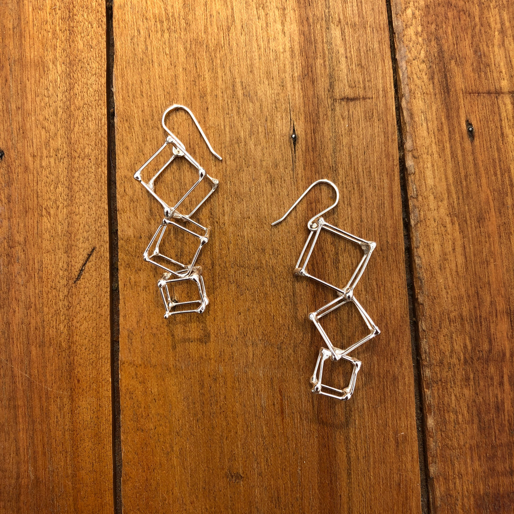 Cascading Cube Earrings