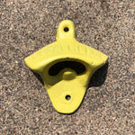 Yellow Wall Mount Cast-Iron Bottle Opener