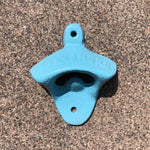 Baby Blue Wall Mount Cast-Iron Bottle Opener